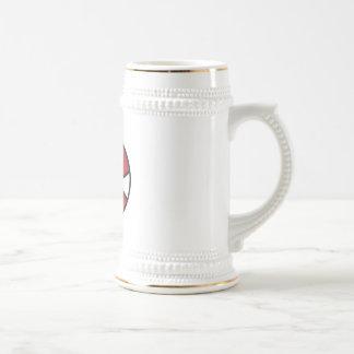 red and white stars basketball mug