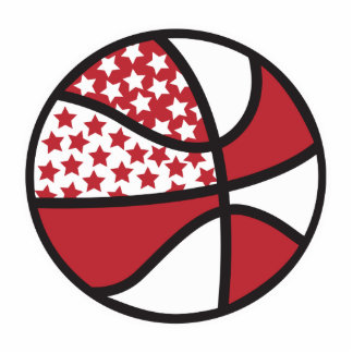 red and white stars basketball photo cut out