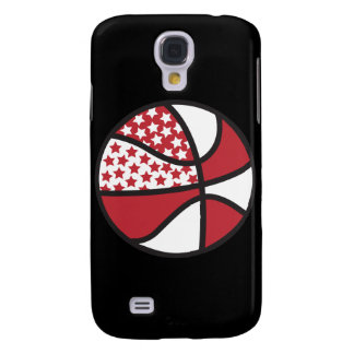 red and white stars basketball samsung s4 case