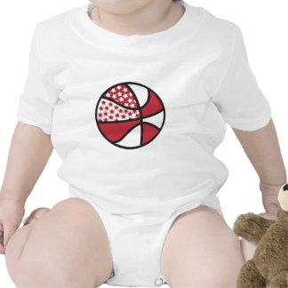 red and white stars basketball tee shirts