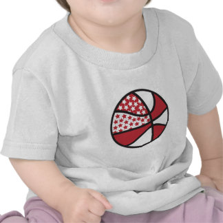 red and white stars basketball tees