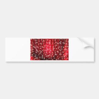 Red and White Stars Bumper Sticker