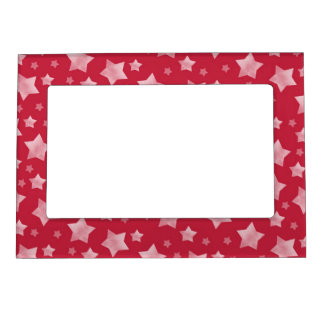 Red and White Stars Magnetic Frames