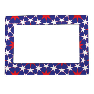 Red and White Stars on Blue Magnetic Frame