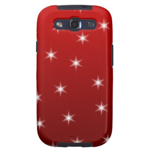 Red and White Stars Pattern. Samsung Galaxy S3 Cases