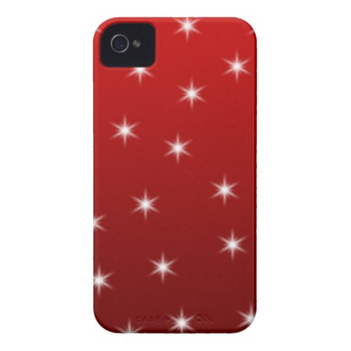 Red and White Stars Pattern. iPhone 4 Case-Mate Case
