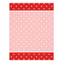 Red and white stars pattern. flyer