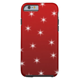 Red and White Stars Pattern iPhone 6 Case