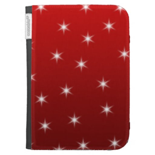Red and White Stars Pattern. Kindle Covers