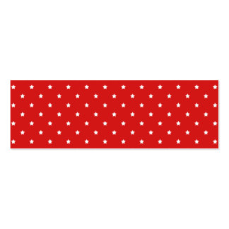 Red and white stars pattern. mini business card