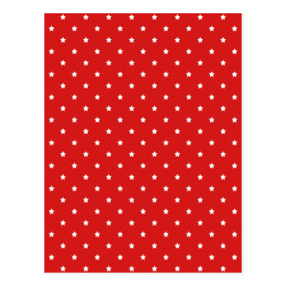 Red and white stars pattern. postcard
