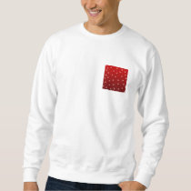 Red and White Stars Pattern. Sweatshirt