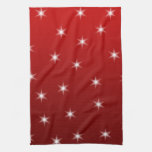 Red and White Stars Pattern. Towels