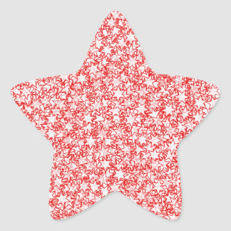 Red and White Stars Team Spirit Sports Colors Star Sticker
