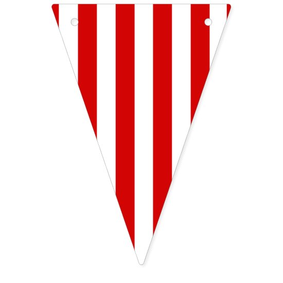 Red and white stripe Party banner