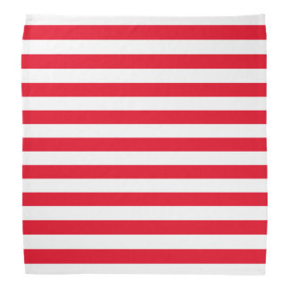 Red and White Stripe Pattern Bandana