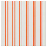 [ Thumbnail: Red and White Striped/Lined Pattern Fabric ]