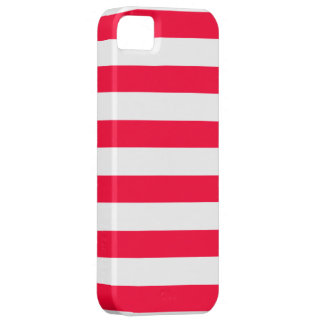 Red and White Striped Pattern iPhone SE/5/5s Case