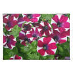 Red and white striped petunias place mats