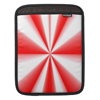 Red and white striped sunburst sleeve for iPads