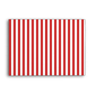 Red and white stripes A7 envelope