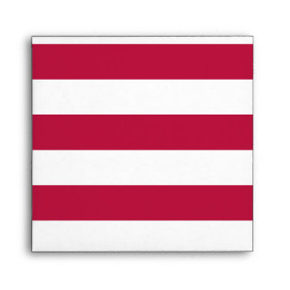 Red and White Stripes Envelope