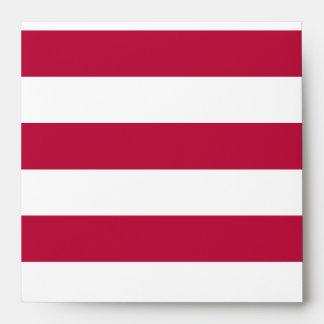 Red and White Stripes Envelopes