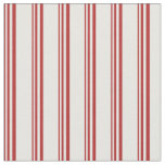 [ Thumbnail: Red and White Stripes Fabric ]