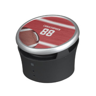 Red and White Stripes Jersey Football Speaker