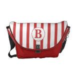 Red and White Stripes Messenger Bag
