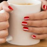 Red and white stripes minx ® nail art