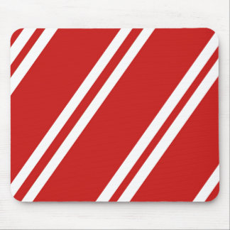 Red and White Stripes Mouse Pad