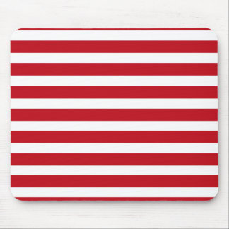 Red and White Stripes Mousepad