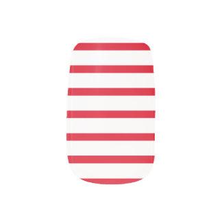 Red and White Stripes Nail Art Minx® Nail Art