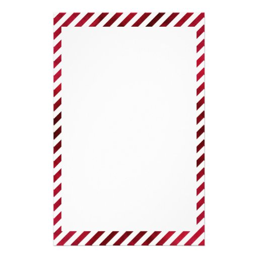 Red And White Stripes On Fabric Texture Stationery Design