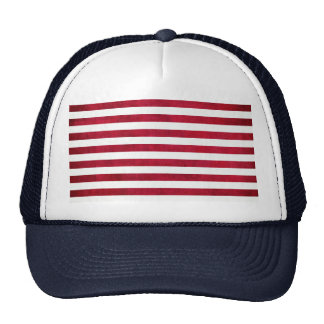 Red And White Stripes On Fabric Texture Trucker Hat