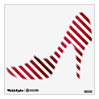 Red And White Stripes On Fabric Texture Wall Decor