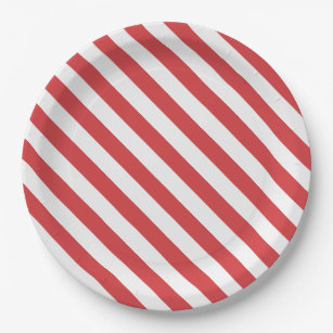 Red and White Stripes Paper Plate  sc 1 st  Zazzle & Red Peppermint Candy Plates | Zazzle