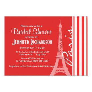 Red and White Stripes; Paris Invitation