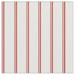 [ Thumbnail: Red and White Stripes Pattern Fabric ]