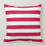 Red and White Stripes Pattern Pillow