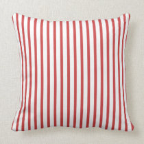 Red and White Stripes Pillow