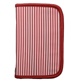 Red and White Stripes Planner