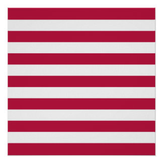 Red and White Stripes Poster