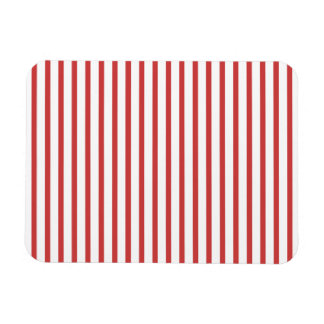 Red and White Stripes Rectangular Photo Magnet