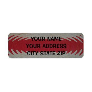 Red and White Stripes Rippled Return Address Label