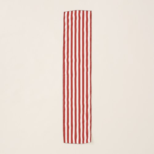 Red and White Stripes Scarf