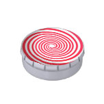 Red and White Swirls Jelly Belly Candy Tins