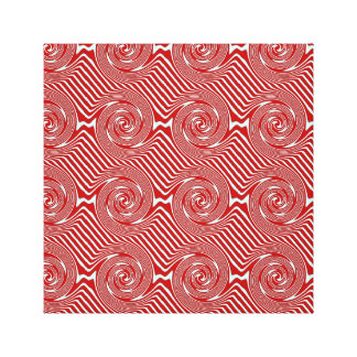 Red And White Swirls Stretched Canvas Print