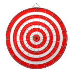 Red and White Target Dartboard With Darts
